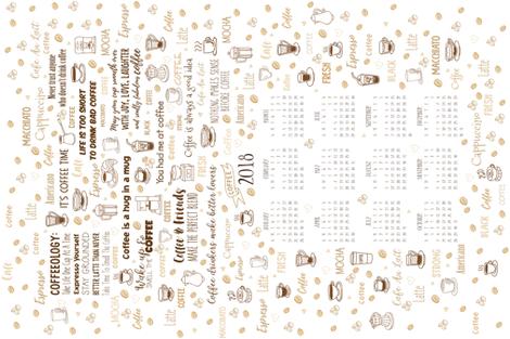 Tea Towel - 2018 Calendar fabric by malibu_creative on Spoonflower - custom fabric