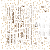 Tea Towel - 2018 Calendar