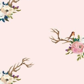 "7"" Sweet Friends Antlers - Pink with Bird"