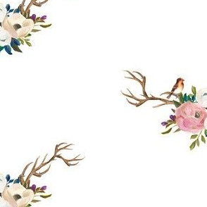 "7"" Sweet Friends Antlers with Bird"