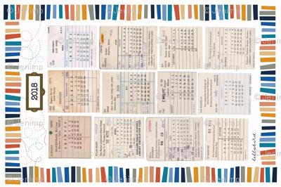 Library Tea Towel Calendar 2018