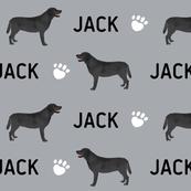 Custom Labrador black coat fabric