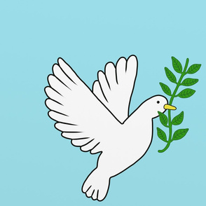 Peace Doves Light Blue