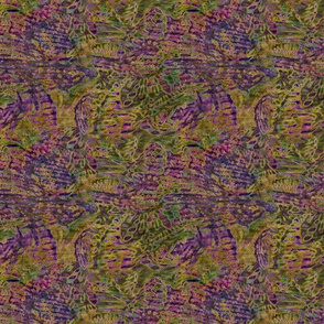 Tropical abstract - purple green