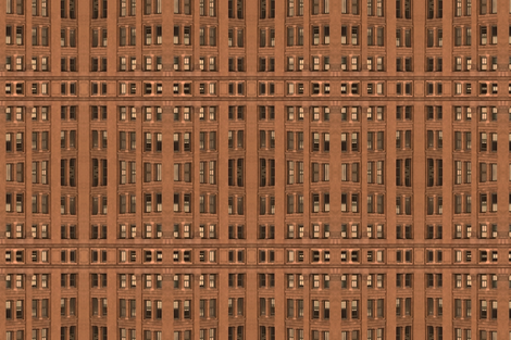 Ma Bell Building (color) fabric by thinknoise on Spoonflower - custom fabric