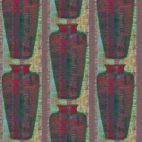 Vase 1 - plum stripe fabric by materialsgirl on Spoonflower - custom fabric