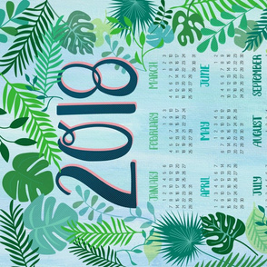 Welcome to the Jungle - 2018 Tea Towel
