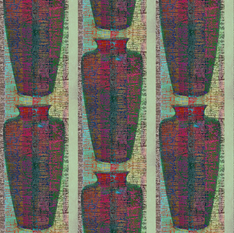 Vase 1 - mint stripe fabric by materialsgirl on Spoonflower - custom fabric