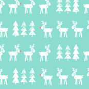 reindeer and trees