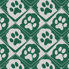 Puppy_Paws_Green_and_Silver