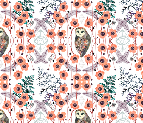 Lucid Dreams All Seeing fabric by zoe_ingram on Spoonflower - custom fabric