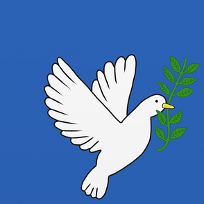 Peace Doves Royal Blue