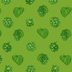 polka hops green