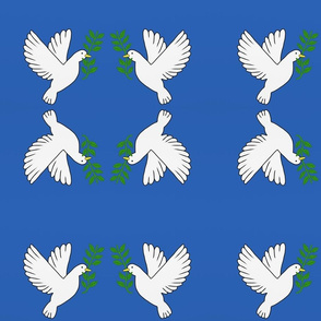 Peace Doves — Royal Blue, small