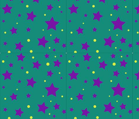 purple_stars_and_yellow_dots fabric by jasminenotyourgeneration_ on Spoonflower - custom fabric