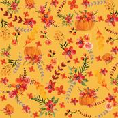 Golden Pumpkin Floral