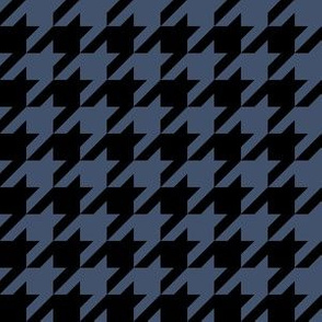 One Inch Blue Jeans Blue and Black Houndstooth Check