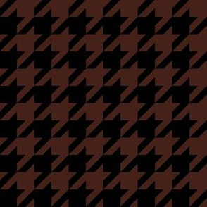 One Inch Brown and Black Houndstooth Check