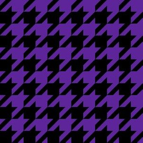 One Inch Purple and Black Houndstooth Check