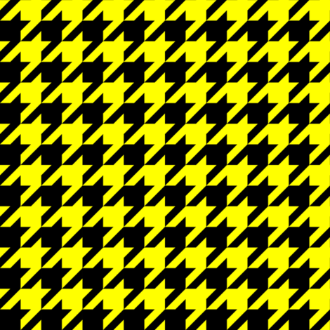 One Inch Yellow and Black Houndstooth Check fabric by mtothefifthpower on Spoonflower - custom fabric