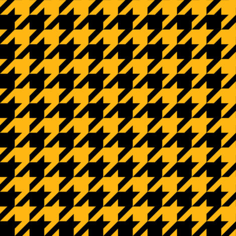 One Inch Yellow Gold and Black Houndstooth Check fabric by mtothefifthpower on Spoonflower - custom fabric