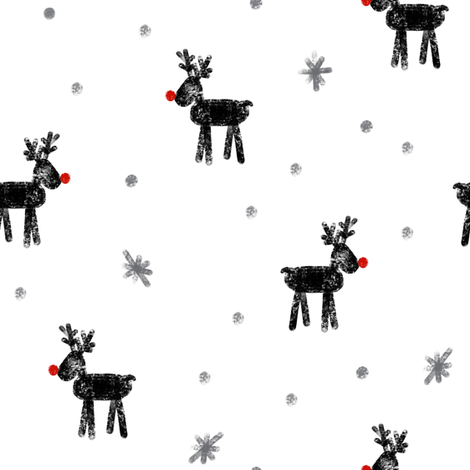 reindeer on white fabric by littlearrowdesign on Spoonflower - custom fabric