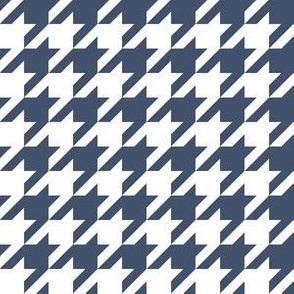 One Inch Blue Jeans Blue and White Houndstooth Check