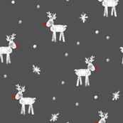 reindeer on dark grey
