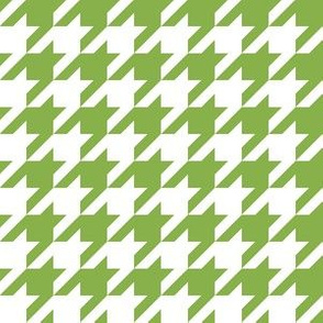 One Inch Greenery Green and White Houndstooth Check
