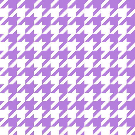 One Inch Lavender Purple and White Houndstooth Check fabric by mtothefifthpower on Spoonflower - custom fabric