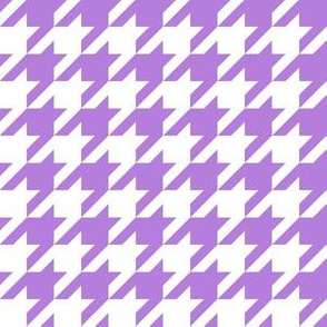 One Inch Lavender Purple and White Houndstooth Check