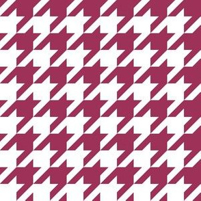 One Inch Sangria Pink and White Houndstooth Check