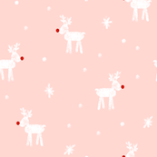 reindeer on rose