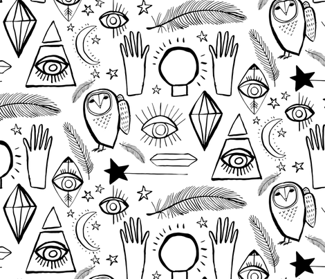 Lucid Dreams Symbols fabric by zoe_ingram on Spoonflower - custom fabric