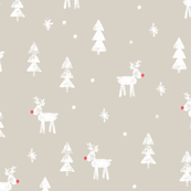 Rudolf with trees and snow (beige)