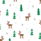 Rudolf with trees and snow (brown and green)