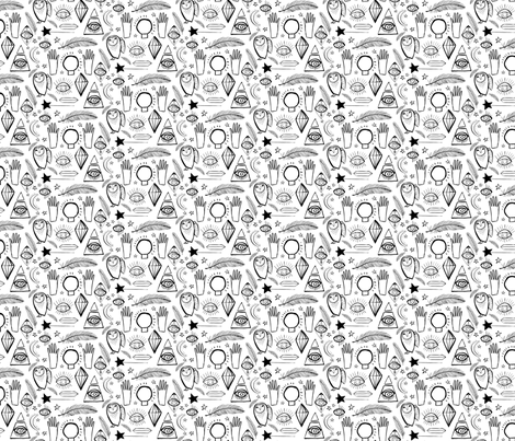 Lucid Dreams Symbols Small fabric by zoe_ingram on Spoonflower - custom fabric