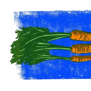 carrots block print