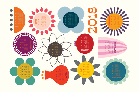 BloomsAllYear2018 fabric by katerhees on Spoonflower - custom fabric