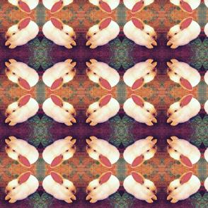 Pink kaleidoscopic bunny
