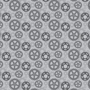 Cogs Pattern Grey