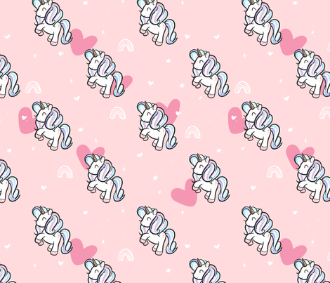 Magical Unicorns fabric by how-store on Spoonflower - custom fabric