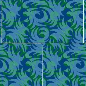 tropical blue and green
