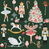 "8"" Nutcracker Dream Ballet // Green"