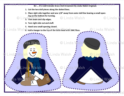 Winter Brr Its Cold Outside Bruce Victorian Cut and Sew Doll