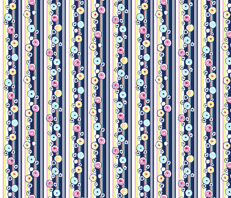 Deckled Dots Stripe - Blue fabric by engravogirl on Spoonflower - custom fabric