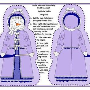 Winter Nellie Victorian Snow-Lady Cut and Sew Doll