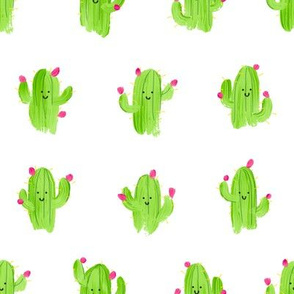 Happy Prickly Pear Cacti Friends