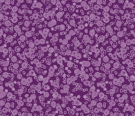 Deckled Dots Purple Monochrome Fabric By Engravogirl On Spoonflower    Custom Fabric