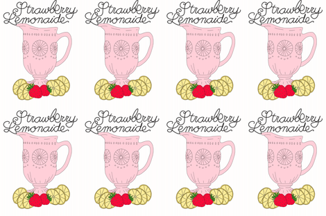 Strawberry Lemonade   fabric by nataliatcha on Spoonflower - custom fabric